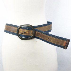 Vintage Levi's Orange Tab Denim Leather Belt